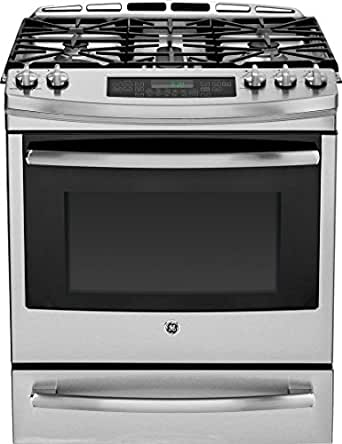 "GE Profile PGS920SEFSS 30"" Profile Series Slide-in Gas Range with Sealed Burner Cooktop, in Stainless Steel"