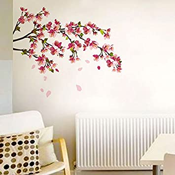 Buy Decals Design Sakura Cherry Blossom Wall Sticker PVC Vinyl - Wall decals india