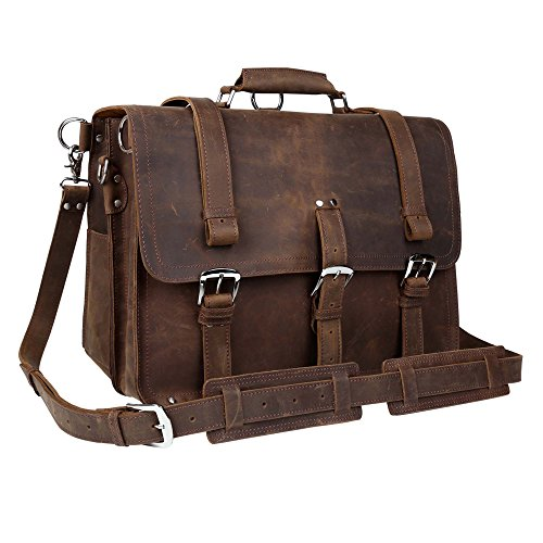 Wildken Genuine Leather Briefcase, Men's Shoulder Handbag Messenger Laptop Bag by Kissloves