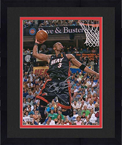 Framed Dwyane Wade Miami Heat Autographed 8