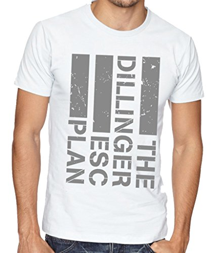 The Dillinger Escape Plan TDEP Esc Band Logo Men's T-Shirt Large White
