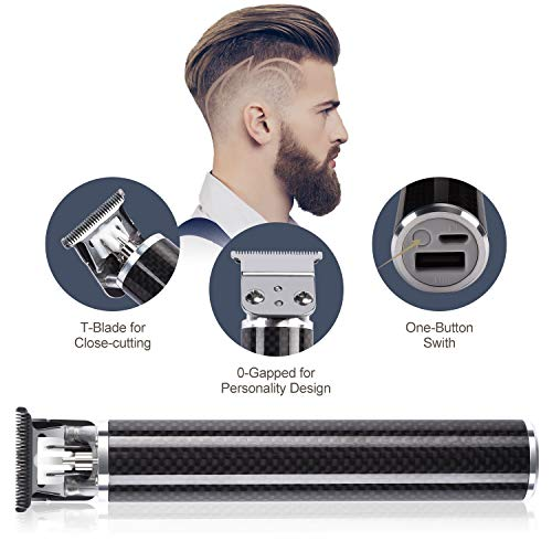 Pro T Outliner Trimmer, Cosyonall Electric Pro Li Outliner T-Blade Hair Clippers Rechargeable Cordless Trimmer Hair Clipper for Men Zero Gapped Detail Beard Shaver