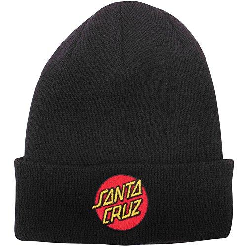 Santa Cruz Mens Classic Dot Long Shoreman Beanie Hat One Size (Santa Beanie)
