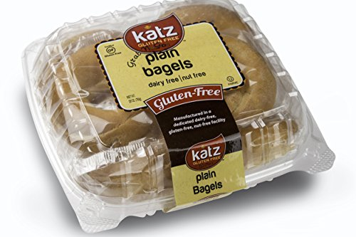 Katz Gluten Free Individual Wrapped GRAB 'N' GO Plain Bagels, 28 Ounce, Certified Gluten Free - Kosher - Dairy Free & Nut free (Pack of 6)