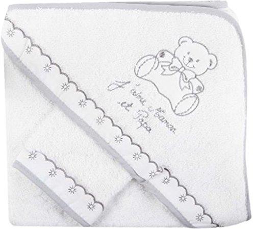 Sevira Kids-Asciugamano con cappuccio per neonato, con guanto, idea regalo per nascita BCGRJPM NISSANOU aux normes