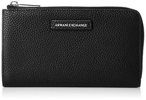 Pebble womens Exchange Zip Zip Nero Round Round Wallet Wallet Armani Pu Pebble Pu Black 0C5qwdw