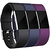 Maledan Bands Replacement Compatible with Fitbit Charge 2, 3-Pack