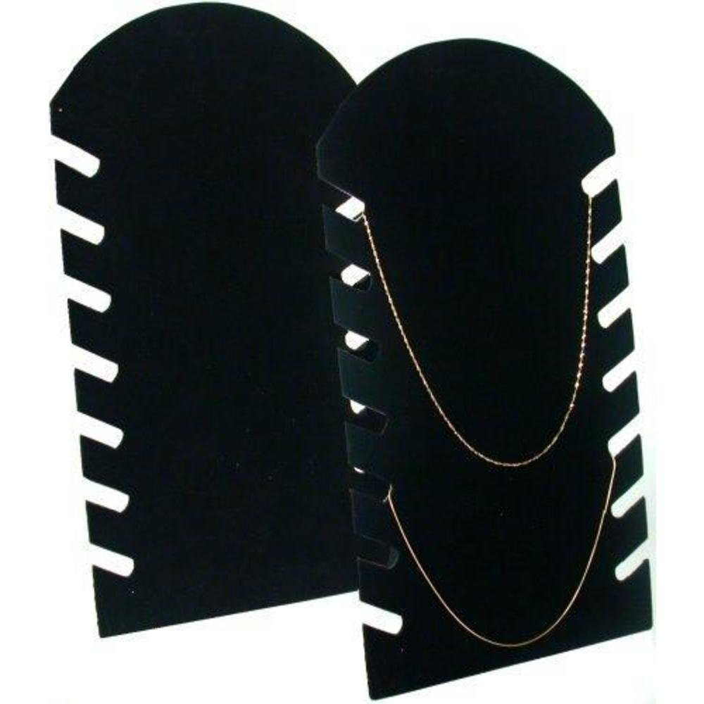 2 Black Necklace Pendant Chain Jewelry Plastic Easel Displays 64-1BK (2)