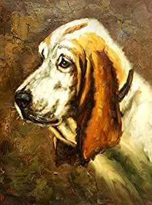 Cotton Canvas ,the Cheap but High quality Art Decorative Art Decorative Canvas Prints of oil painting 'Wall Decoration of a Dog', 16x22 inch / 41x55 cm is best for Bedroom artwork and Home gallery art and Gifts