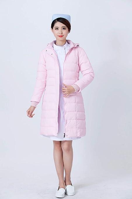 OPPP Ropa médica Chaqueta Larga de plumón de Enfermera Chaqueta de Manga Larga Abrigo de algodón