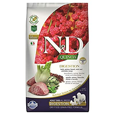 FARMINA DOG N&D QUINOA DIGESTION LAMB 5.5 LB
