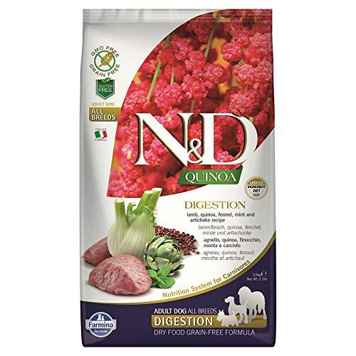 FARMINA DOG N&D QUINOA DIGESTION LAMB 5.5 LB