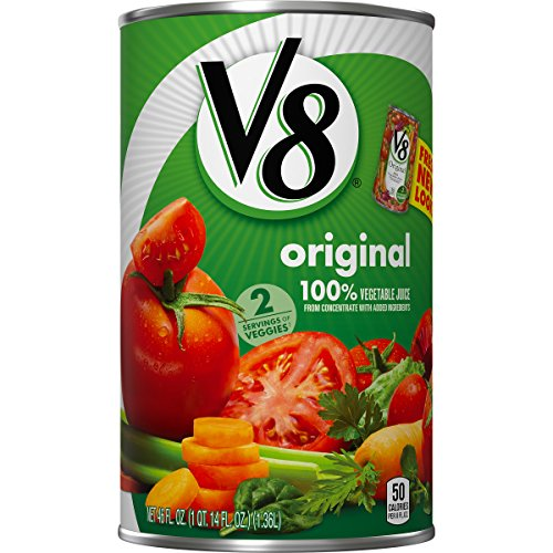 V8 100% Vegetable Juice, Original, 46 Ounce (Pack of - 100 46