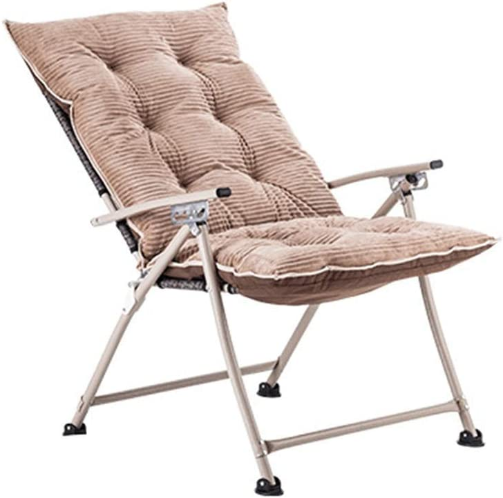 QQXX Folding Chair Home Folding Chair Lazy Computer Chair Recliner Lunch Chair Student Dormitory Stool Balcony Leisure Sofa Chair Four Seasons Universal Removable and Washable Lazy Chair