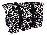 7-Pocket Tote Bag With Zipper (Black Twist)