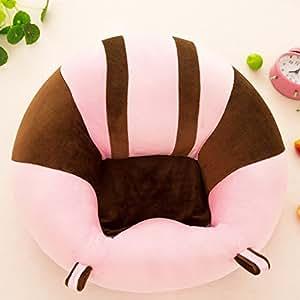 Colorido patrón de algodón nuevo bebé apoyo asiento suave almohada cojín sofá para 0 – 2 años peluche juguetes niños muebles redondo silla asiento ...