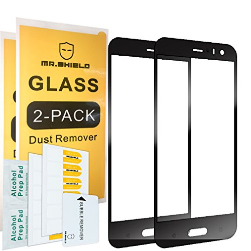 Best Life Cover - [2-Pack]-Mr.Shield for HTCU11Life [Japan Tempered Glass] [9H Hardness] [Full Cover] Screen Protector with Lifetime Replacement