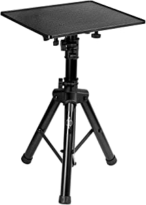 Starument Laptop Stand - Tripod Floor Stand for Computer, Projector, DJ Equipment, Studio Accessories - Light & Portable, Sturdy & Durable Metal - Adjustable Height, 31.9 to 50.2-Inch - 20x16