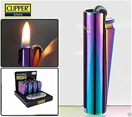 Ponze Clipper - Mechero de metal con grabado, caja de regalo personalizable, color plateado y dorado por Unknown: Amazon.es: Hogar