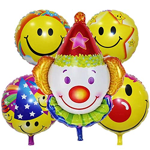 Lannmart 5pcs/Set Pumpkin Head foil Balloons Halloween Party Decorations Inflatable Toys Helium Balloon Halloween Balls Party Supplies