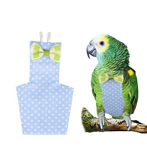 FLAdorepet Cockatiel Parrot Bird Diaper Nappy Flight Suit with Waterproof Liner Pet Bird Macaw Clothes (M, -