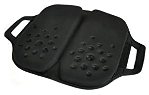 Tektrum Foldable Orthopedic Cool Gel Seat Cushion with Handle for Home, Office, Car, Chairs, Travel - Relief for Back, Tailbone, Sciatica, Pain/Discomfort, Promotes Healthy Posture (TD-GS1203-BLK)