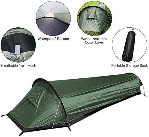 XTBB Camping Tente Simple Personne Coffintravel Tente De Randonnée Tente De Camping en Plein Air Sac De Couchage Tente Tente Légère