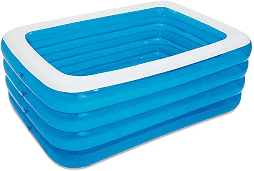 Lili Piscina Familiar Rectangular Piscina Hinchable Fast Set ...