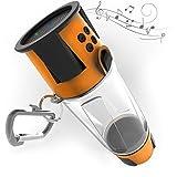 HYDRA Tech Bottle - 5W Bluetooth Speaker, 4000 mah Power Bank Charger for Smart Phone, Speakerphone, Microphone, Emergency RGB LED Nightlight Orange