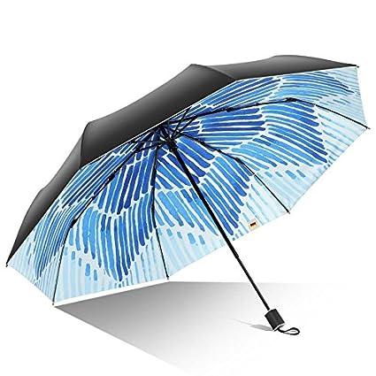 Paraguas plegable automatico Mujer niño Hombre an- Paraguas Solar Ultraligero Plegable Resistente a los Rayos