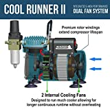 Master Airbrush Cool Runner II Dual Fan Air