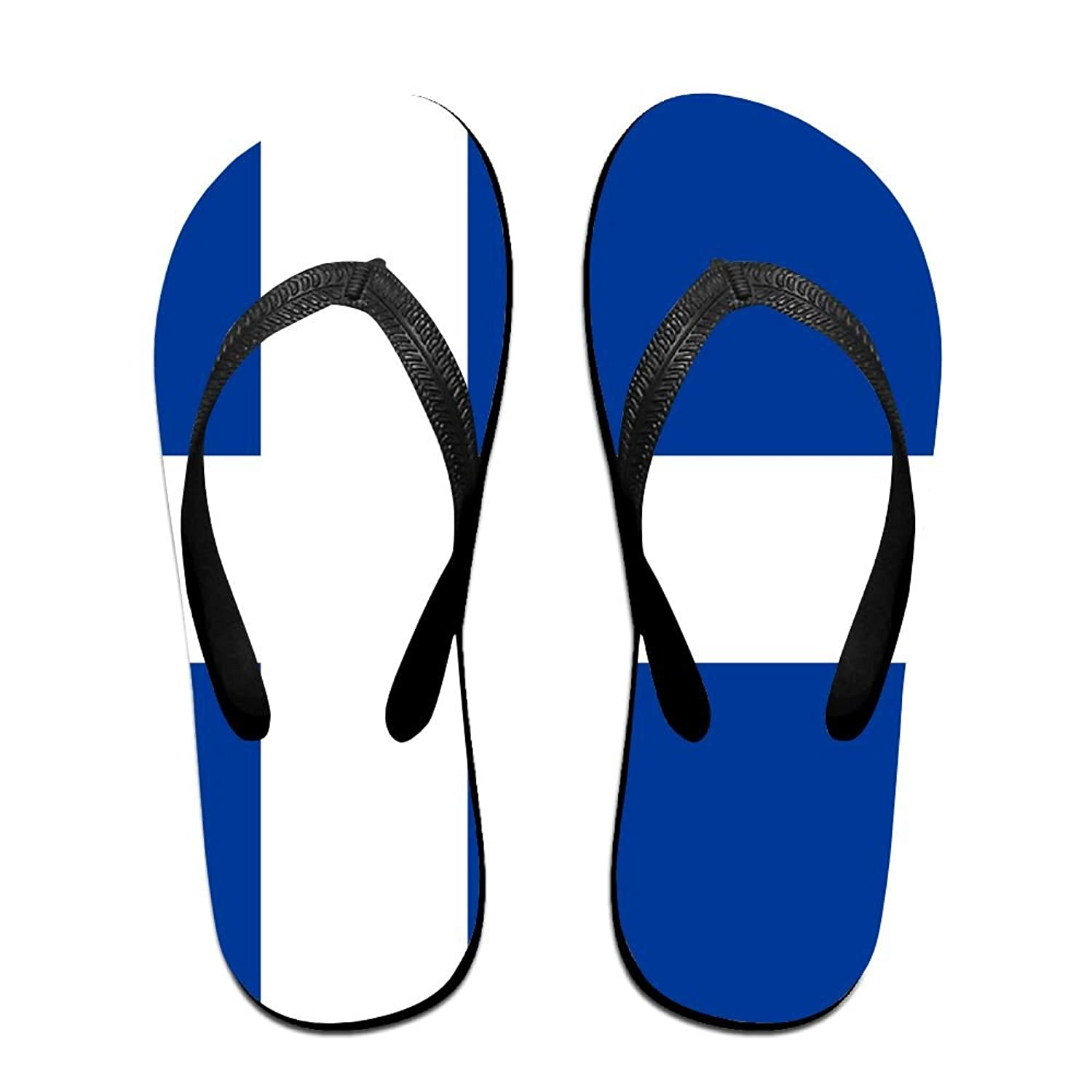 Flag Of Iceland Cozy Flip Flops For Children Adults Men And Women Beach Sandals Pool Party Slippers