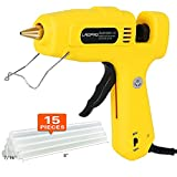 100/60W Glue Gun with 15 pcs Glue Sticks, LAOPAO Full Size 60/100 Watt Dual Power High Temperature Hot Melt Glue Gun for DIY Small Craft and Quick Repairs