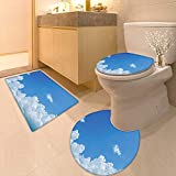 Printsonne Lid Toilet Cover Collection Cloud Frame Skylight to Clear Sky Sunny Day Decorative Nature Picture Scene Personalized Durable