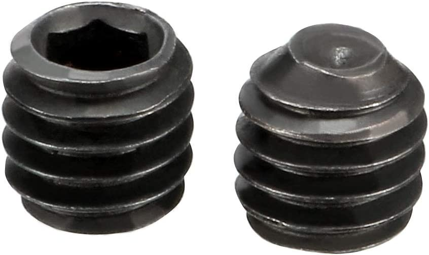 sourcing map 4Pcs Metal Black M4x4mm Hex Socket Grub Screw for RC Model Car Spare Part