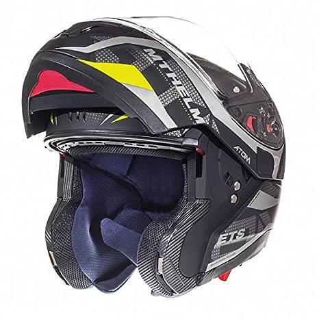 53-54cm MT Atom SV Divergence Motorbike Motorcycle Flip Up DVS HELMET Flu Orange XS