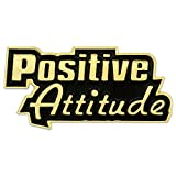 PinMart's Positive Attitude Customer Service Motivation Enamel Lapel Pin