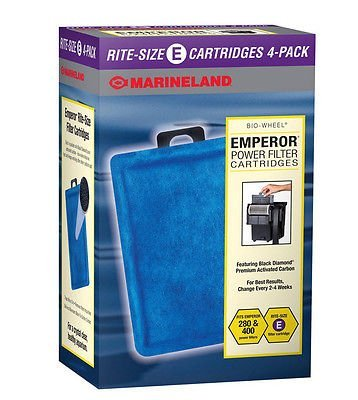 MARINELAND EMPEROR POWER FILTER CARTRIDGES. RITE SIZE E. 4PK by Pet Supplies (Emperor Power Filter compare prices)
