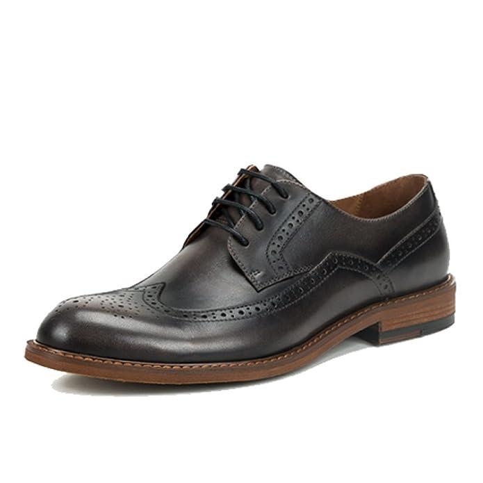 MSM4 Homme D'affaires Tendance Ronde Toe Chaussures Derby Orteil Motif Le Choix de L'usure Naturelle Monsieur Trois Dimensions abrZHqg