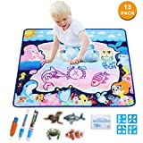 Doodle Drawing Mat-Water Drawing Mat Educational Toys-Multiple Color Painting, Coloring for Kids-Toyk Aqua Magic Mat-Toddler Gifts for Boys Girls, Age of 2,3,4,5,6 Year Old 32