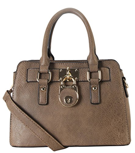 Rimen & Co. PU Leather Front Lock Décor Top Handle Mini Handbag Womens Purse Cross Body SD-3630 SW-3608 by Rimen & Co