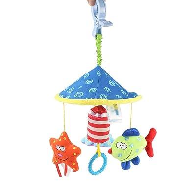 MAJINCGJ Newborn Baby Toy Crib Hanging cart Hanging rattles, Newborn Baby Plush Soothing Toys, Baby Bell car Hanging Bed Hanging Rattle with Clip : Baby