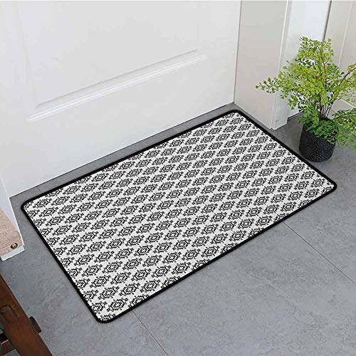 ONECUTE Dog Doormat,Native American Grunge Monochrome Motifs with Ancient Cultural Origins Indigenous Abstract,Bathroom mat,24