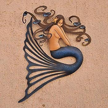 Amazon.com: Metal Mermaid Decor Wall Art Under The Sea ...