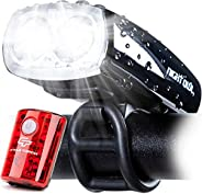 Cycle Torch Night Owl USB Rechargeable Bike Light Set, Perfect Commuter Safety Front and Back Bicycle Light LE