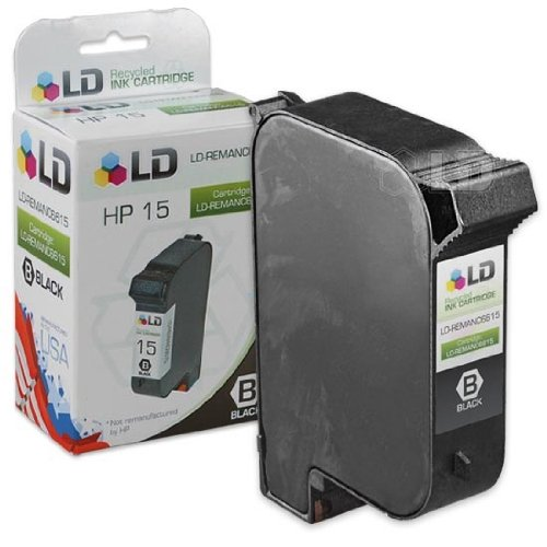 LD Remanufactured Ink Cartridge Replacement for HP 15 C6615DN (Black)