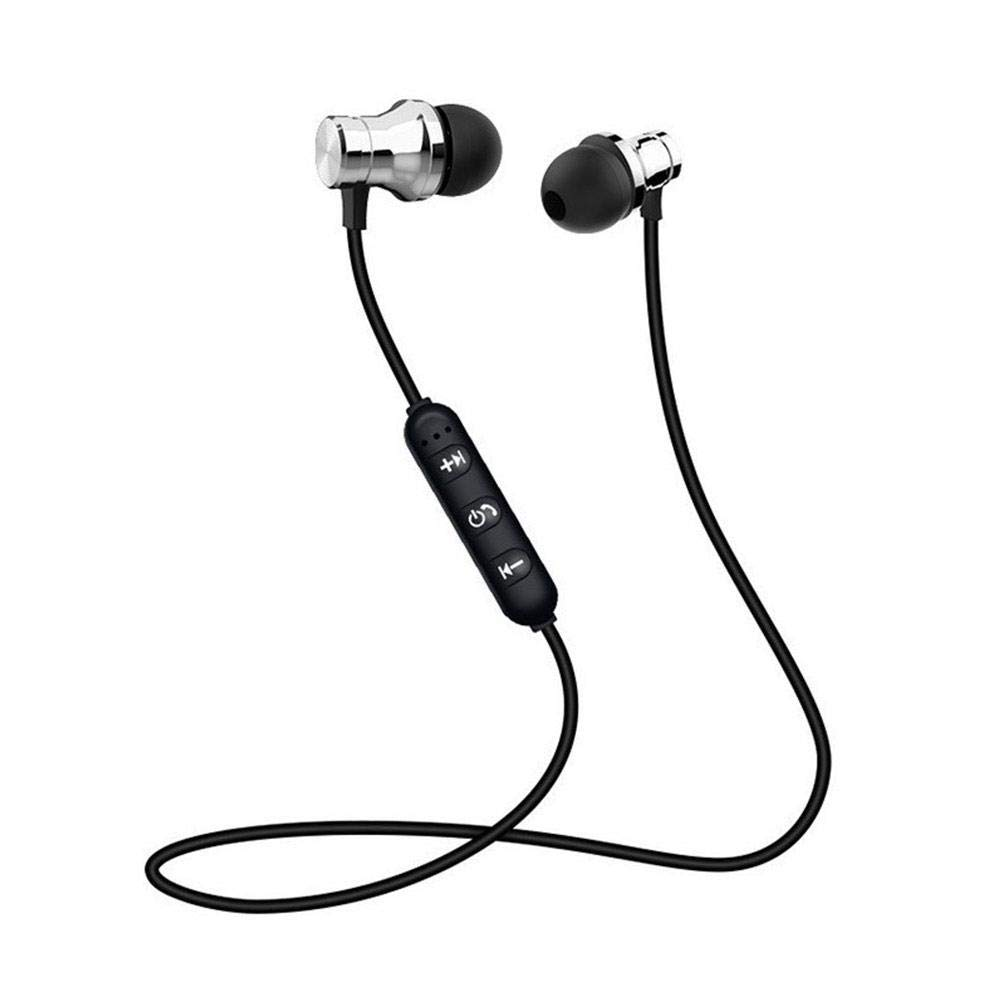 Bluetooth Earbuds Sports Wireless Headphones IPX4 Waterproof in-Ear Earphones Noise Canceling Stereo Headset Magnet Sweatproof with Mic for Gym Running, iPhone X 8 8 Plus 7 7 Plus
