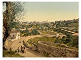 Historic Photos The way to the station, Jerusalem, Holy Land