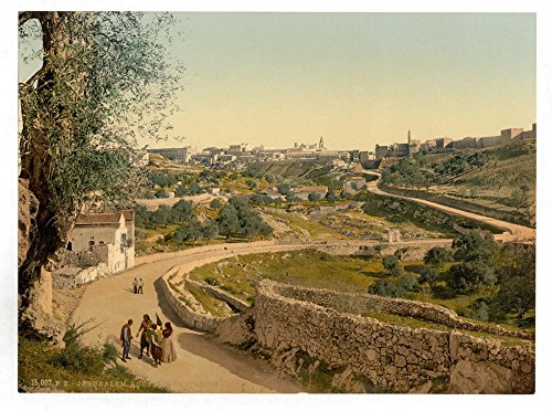 Historic Photos The way to the station, Jerusalem, Holy Land by Historic Photos