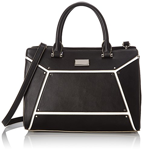 Nine West Nailed It Satchel Top Handle Bag Black One Size